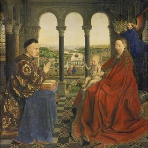 The Rolin Madonna (La Vierge Au Chancelier Rolin), C. 1435 by Jan van Eyck
