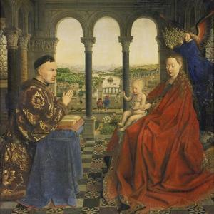 The Rolin Madonna (La Vierge Au Chancelier Rolin), C. 1435 by Jan van Eyck
