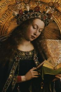 The Virgin- Ghent Altarpiece by Jan van Eyck