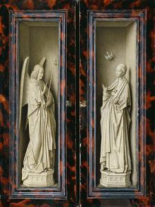 Winged Altarpiece 1437, Exterior Wings: Annunciation by Jan van Eyck
