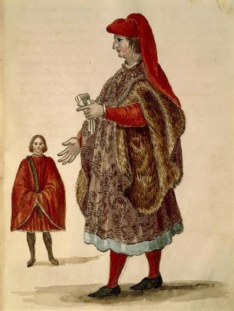 "Venetian Senator Wearing ""Dogalina"", Formal Robe with Wide Sleeves"