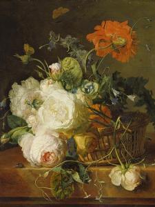 Basket of Flowers. (Undated) by Jan van Huysum