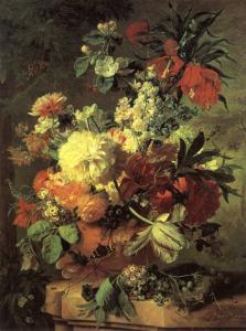 Flowers in a Vase by Jan van Huysum