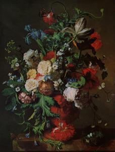 Flowers in an Urn by Jan van Huysum
