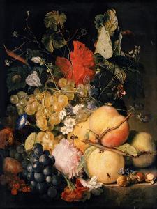 Früchte, Blumen und Insekten by Jan van Huysum