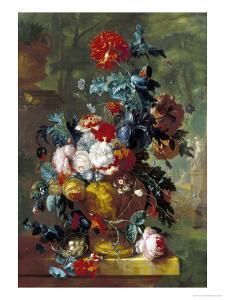 Rich Still Life of Flowers by Jan van Huysum
