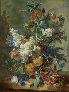 Still Life with Flowers by Jan van Huysum