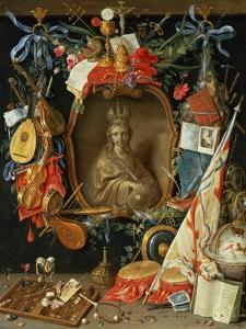 Ecclesia Surrounded by Symbols of Vanity (On Copper) by Jan van Kessel