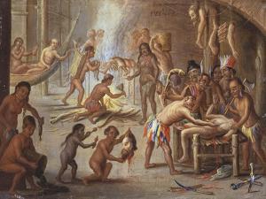 Indians as Cannibals, 17th Century by Jan van Kessel