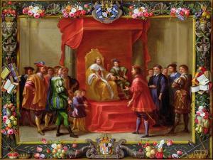 Peter IV, King of Aragon Being Visited by Guillaume-Raymond Moncada by Jan van Kessel