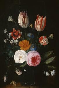 Vase of Flowers with Tulips, Roses and Carnation by Jan van Kessel