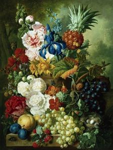 A Rich Still Life of Summer Flowers by Jan van Os