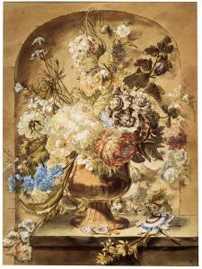 'Flowers', 18th or early 19th century by Jan van Os