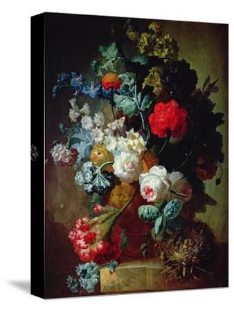 Still Life, Flowers and Bird's Nest