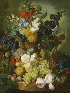 Still Life of Flowers and Fruit by Jan van Os