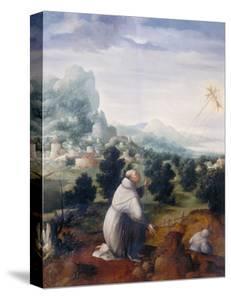 St. Francis Receiving the Stigmata, Palatine Gallery, Florence by Jan van Scorel