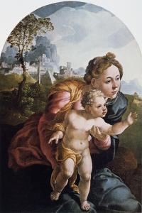 The Virgin and Child, 16th Century by Jan van Scorel