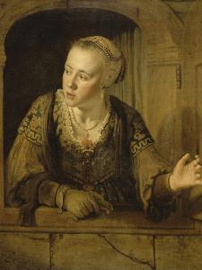 Jeune fille à la fenêtre by Jan Victors