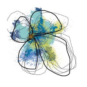 Azure Petals I by Jan Weiss