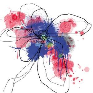 Blue Liquid Flower by Jan Weiss