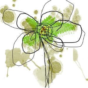 Liquid Green Flower by Jan Weiss