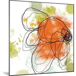 Orange Liquid Flower by Jan Weiss