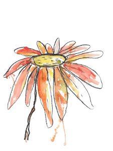 Orange Modern Botanical by Jan Weiss