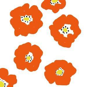 Orange Pop Flowers by Jan Weiss