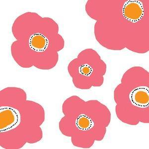 Pink Pop Flowers by Jan Weiss