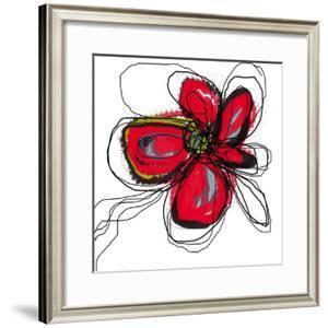 Red Butterfly Flower by Jan Weiss