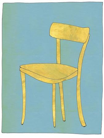 Single Blond Chair Looking for Home by Jan Weiss