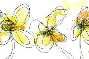 Three Yellow Flowers by Jan Weiss
