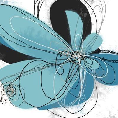 Tiffany Blue Floral Five by Jan Weiss
