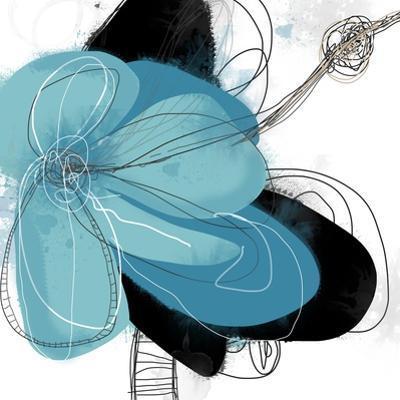 Tiffany Blue Floral Three by Jan Weiss