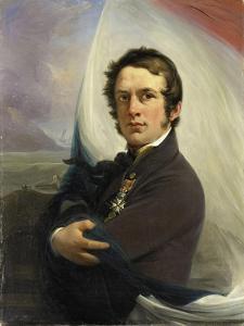 Portrait of Jacob Hobein, Rescued the Dutch Flag under Enemy Fire, 18 March by Jan Willem Pieneman