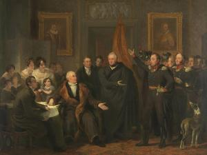 Triumvirate Assuming Power in the Name of the Prince of Orange, 1813 by Jan Willem Pieneman