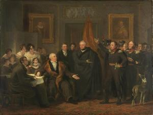 Triumvirate Assuming Power in the Name of the Prince of Orange, 21 November by Jan Willem Pieneman