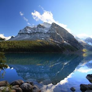 Reflections on Lake Louise, Banff Np, Canada by Jan Zwilling