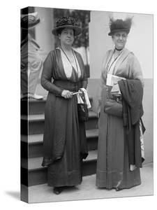 Jane Adams and Lillian Wald, Leaders of the Settlement House Movement, 1916
