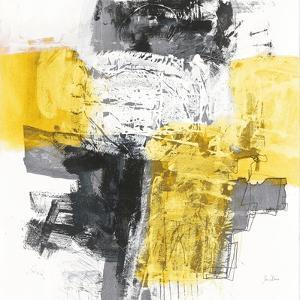 Action I Yellow and Black Sq by Jane Davies