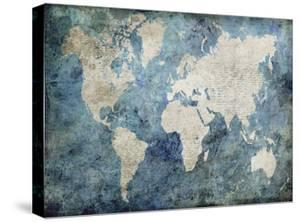 Maps artwork for sale posters and prints at art world map bluejane fox gumiabroncs Images