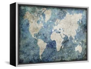 Beautiful maps artwork for sale posters and prints the new art world map blue gumiabroncs Images