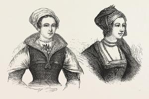 Jane Grey and Anne Boleyn, Prisoners in the Tower, London, 1876, Uk