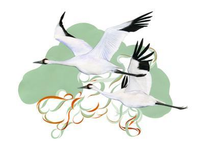 Migrating Mural Concept: Whooping Cranes by Jane Kim