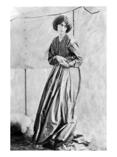 Jane Morris, Posed by Dante Gabriel Rossetti, 1865 (Albumen Print)-John R. Parsons-Giclee Print