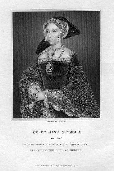 Jane Seymour, Third Wife and Queen of Henry VIII of England-R Cooper-Giclee Print