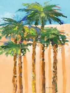 Tan Shadow Palms I by Jane Slivka