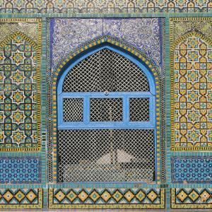 Afghanistan, Mazar-I-Sharif, Shrine of Hazrat Ali, Window by Jane Sweeney