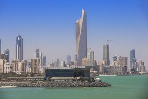 Arabian Gulf and City Skyline, Salmiya, Kuwait City, Kuwait, Middle East by Jane Sweeney