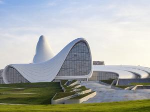 Azerbaijan, Baku, Heydar Aliyev Cultural Center by Jane Sweeney